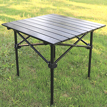 Buy Folding Aluminum Alloy Table Portable for Picnic Party Camping BBQ Outdoor with 9 on Gipsybee.com