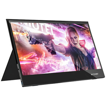 BlitzWolf BW PCM5 15.6 Inch Touchable UHD 4K Type C Portable Computer Monitor Gaming Display Screen for Smartphone Tablet Laptop Game Consoles