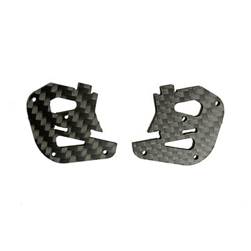 2 PCS Dragon Frog 3 Inch 139mm Frame Kit Spare Part 1.5mm Camera Side Plate Carbon Fiber