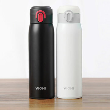 VIOMI 300ML Stainless Steel Thermose Double Wall Vacuum Insulated Water Bottle Drinking Cup Drinking Bottle - Black