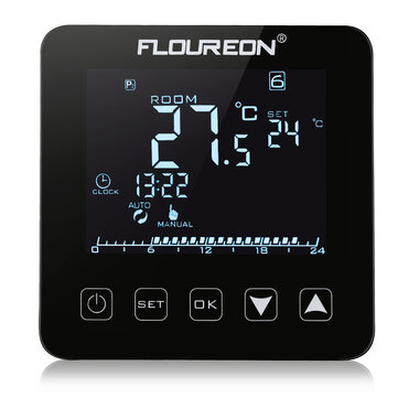 Floureon HY08WE-2 Electric Heating Thermostat LCD Display Digital Thermometer