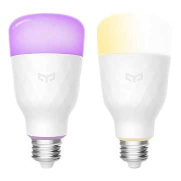 1PC Yeelight YLDP05YL+ 1PC YLDP06YL E27 10W Smart LED Bulb Support Alexa AC100-240V (Xiaomi Ecosystem Product)