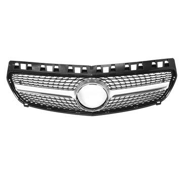 मर्सिडीज बेंज W176 ए क्लास ब्लैक डायमंड डिज़ाइन 2013-15 के लिए फ्रंट ग्रिल ग्रिल