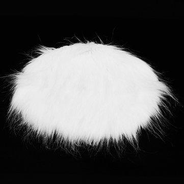 30cm Plain Fluffy Area Rugs Round Pad Carpet Hairy Fur Bedroom Carpet Mat New