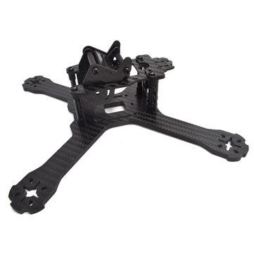 Realacc X210 V+ 214mm 6K Carbon Fiber FPV Racing Frame 4mm Frame Arm w/ LED Board 5V & 12V PDB