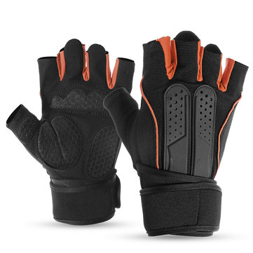 Half Finger Racing Weight Lifting Gym Gloves Workout Wrist Wrap Sports Exercise Training Fitness