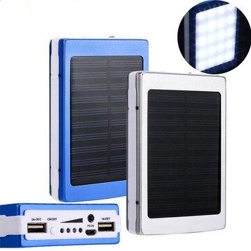 Bakeey 5x18650 दोहरी USB सौर ऊर्जा शिविर टॉर्च 20000mAh बैटरी केस पावर बैंक बॉक्स
