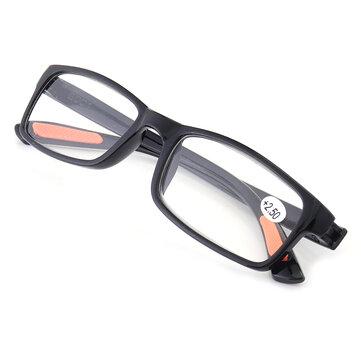 KCASA TR90 पोर्टेबल टिकाऊ प्रकाश वजन राल काला पढ़ना चश्मा अत्यधिक लचीला