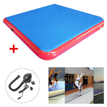 78.7x78.7x3.94inch Inflatable GYM Air Track Mat Outdoor Sports Airtrack Gymnastics Mat Fitness Training Yoga Pad With Pump