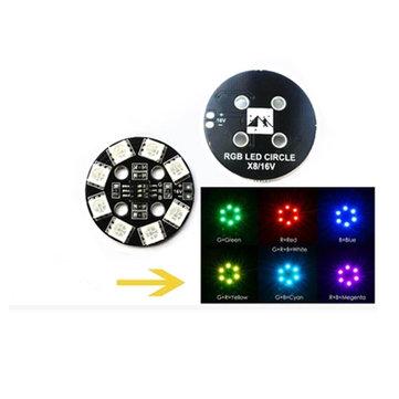 Matek RGB LED  Circle Board 7-colors X8 16V For FPV RC Multi-Rotor Racing Drone