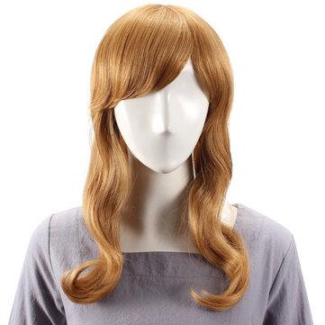Rambut Manusia Wig Panjang Lurus Penuh Bang Virgin Remy Mono Top Tanpa Capless