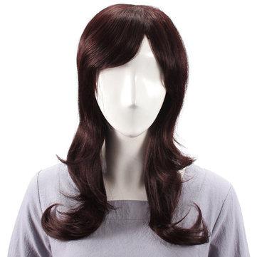 Panjang Menawan Sisi Bang Rambut Manusia Wig Perawan Remy Mono Top Tanpa Capless