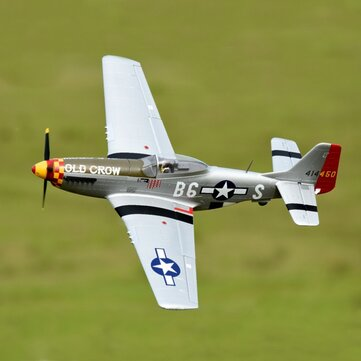 """Eleven Hobby P-51D P51D Mustang Old Crow 1100mm 43"""" Wingspan PNP"""