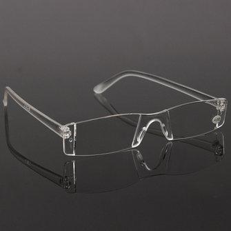 Fashion Resin Clear Rimless Reader Presbyopic Eyewear Reading Glasses
