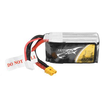 ACE TATTU 11.1V 850mAh 75C 9.44Wh 3S 1P Lipo Batería XT30 Enchufe