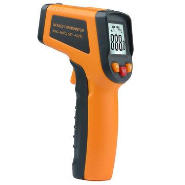 MT380 Laser Digital Infraröd Icke-kontakt -50 ~ 400 ℃ Termometer Temperatur Tester ℃ / ℉