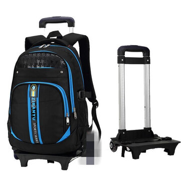 2 in 1 Kids School Rolling Bag Trolley Bags Large Capacyty Backpack with Wheels for Children Cycling Travel School