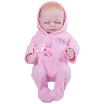 11'' Real Life Lifelike Reborn Baby Dolls Full Silicone Sleeping Pink Cloth Girl