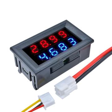 3pcs DC 100V 10A 0.28 Inch Mini Digital Voltmeter Ammeter 4 Bit 5 Wires Voltage Current Meter with LED Dual Display