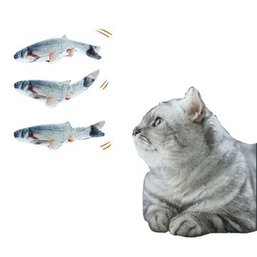 Buy Cat Toys Electric Catnip Fish Cat Wagging Fish Realistic Plush Simulation Fish Chewing USB Charging Pet Supplies with Litecoins with Free Shipping on Gipsybee.com