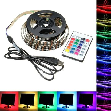 1m 2m 3m 4m <b>usb</b> 5v 5050 60smd/m rgb <b>led strip</b> light tv back ...