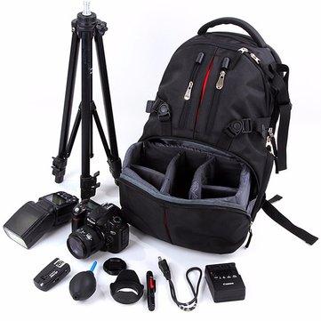 Nylon Waterproof Shockproof Camera Laptop Bag Lens Case Backpack For Canon Nikon SLR DSLR Camera