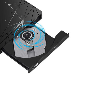 USB3.0 External Optical Drive DVD-RW Player CD DVD Burner Writer Rewriter Data Transfer for PC Laptop Windows 7/8/10
