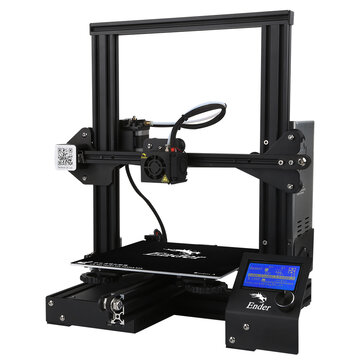 Creality 3D� Ender-3 V-slot Prusa I3 DIY 3D Printer Kit 220x220x250mm Printing Size With Power Resume Function/MK10 Extruder 1.75mm 0.4mm Nozzle