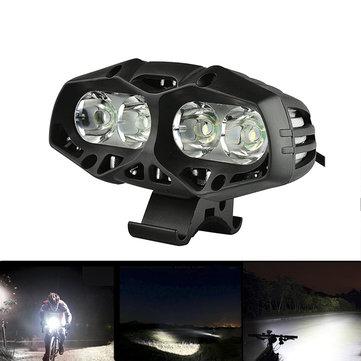 Đèn trước xe đạp chống nước XANES ML01 1600LM 4 * T6 4 chế độ Đèn pha thể thao ngoài trời đa năng
