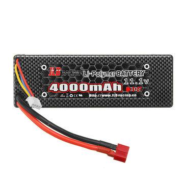 JLB Racing 11.1V 4000mAh 30C 3S Lipo Battery T Plug for 11101 21101 31101 J3 1/10 Rc Car
