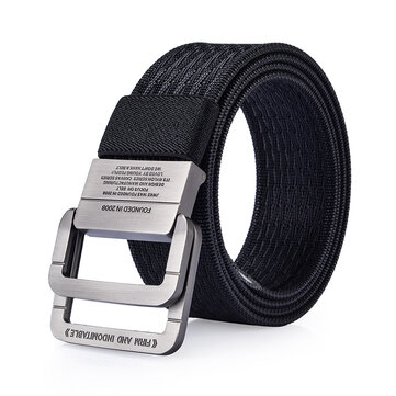 120CM Men Nylon Military Tactical Belt Durable Outdoor Sport Pants Double Ring Alloy Buckle Belt