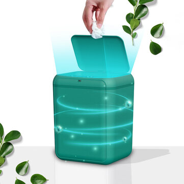 Intelligent Garbage Can Automatically Inductive Ashbin Domestic Large Size Covered Basket Toilet Kitchen Compartmental Garbage Can Coupon Code and price! - $40