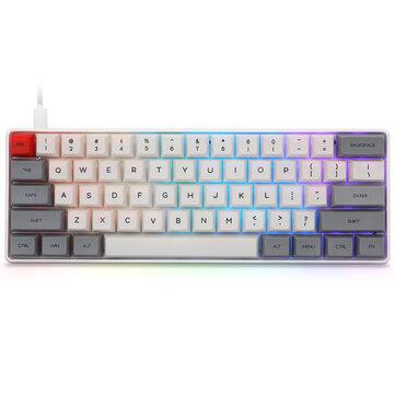 Gateron optique rouge, rose Type-C pour Win//Mac//Gaming IP6X Epomaker SK61 Clavier m/écanique 61 touches avec r/étro/éclairage RVB /étanche NKRO
