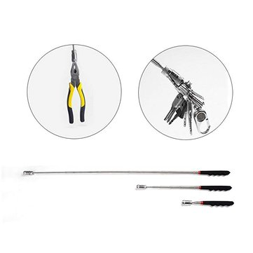 XANES 021 69cm Flexible Telescoping Magnetic Pick Up Extendable Tool For Picking Screwdriver Nuts Screw with Flashlight LED Light