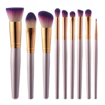 9pcs Luckyfine Soft Makeup Brushes Set Blend Foundation Lips Liner Eye Shadow Powder Cosmetics Tool