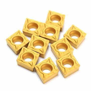 Machifit 10pcs CCMT060204-HM YBC251 Carbide Insert Titanium Coated Carbide Cutter
