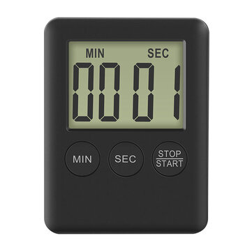 Digoo DG-TK30 Mini LCD Display Electric Digital Kitchen Timer Loud Alarm Magnetic Backing Countdown Timer for Cooking Baking  Exercise