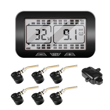 C500 Solar Tire Pressure Monitor System Internal External Sensor Repeater For Multi-wheeled Heavy Truck Van