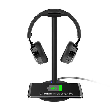 New Bee NB Z2 2 in 1 Function Headphone Stand Holder Storage Tools with Wireless Fast Charging Pad for Smartphone Coupon Code and price! - $16