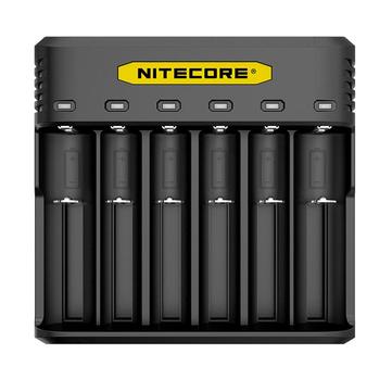 Nitecore Q6 SIX SLOT 2A Universal Li-ion/IMR Battery Charger For 18650 16340 RCR123A 14500 18350