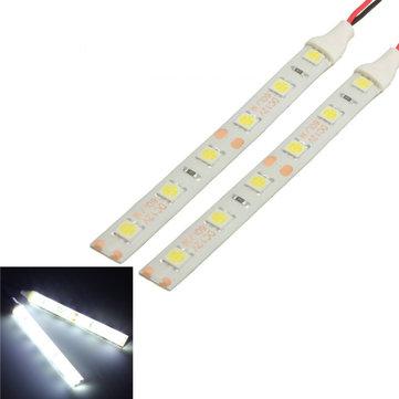 2pcs Waterproof LED Strip Lampu 10cm 6 LED 5050 Fleksibel 12V Untuk Perahu Motor