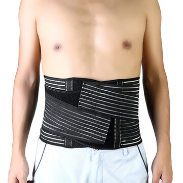 Men Women Fitness Belly Protector Waist Belt Stretchable Shaping Back Support Lumbar Support Belt