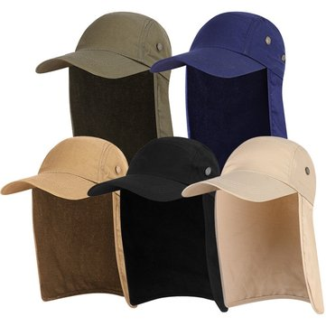 Men Women Outdoor Sun Protection Soldier Military Cape Cap Fisherman Fishing Mountaineering Sport Hat