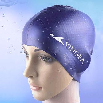यूनिसेक्स महिला पुरुषों यूनिवर्सल सिलिकॉन तैरना कैप निविड़ अंधकार बाल कान संरक्षण तैरना कैप