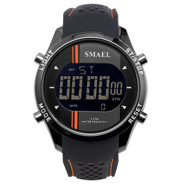 SMAEL 1283 Digital Watch LED Men Sport Outdoor Silicone Strap Military Male Wrist Watch