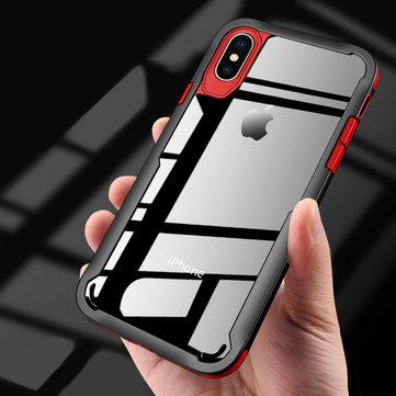 Bakeey Klar gjennomsiktig Anti Knock Hard PC beskyttelsesveske til iPhone X