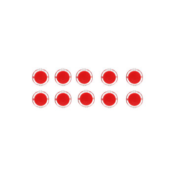10Pcs Red 24mm Push Button for Arcade Game Console Controller DIY