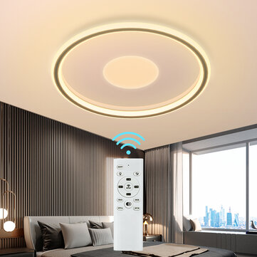 DIGOO DG_MD1805 36W 40CM LED Ceiling Light Concentric Circles Dimmable Ceiling Lamp w_Remote AC185_265V