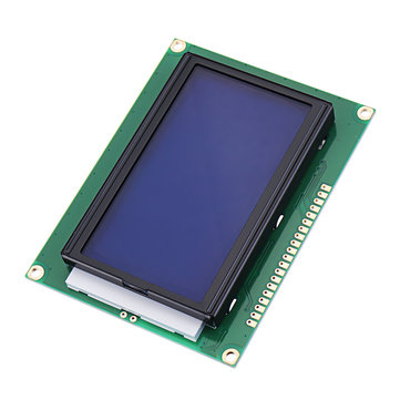 12864 128*64 LCD Display Module 5V Dots Graphic Blue Screen with Backlight  for Arduino Raspberry pi
