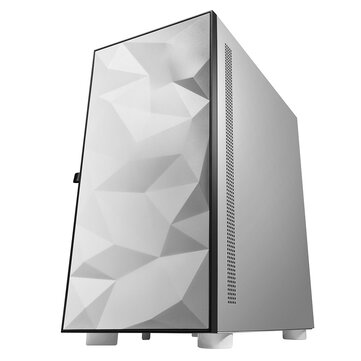 DarkFlash DLM21 Gaming Computer Case ATX/M-ATX/ITX Supported Tempered Glass Door Opening Air Inlet White